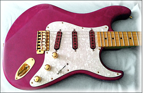 Wiggins Brand Purpleheart Strat Set