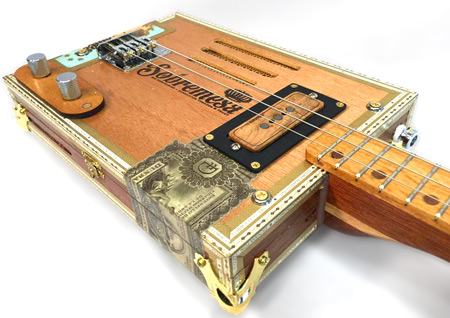 Rob Wrobel Sobremesa wiggins brand maple pickups cigar box guitar